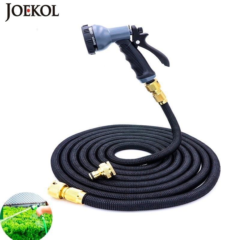 Hoses-Pipe Expandable Watering Garden-Hose Plastic Magic Flexible Spray-Gun with To 25ft-200ft title=