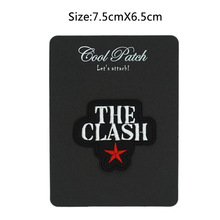 THE CLASH Star Logo Music Band Embroidered NEW IRON ON and SEW ON Cool Heavy metal Rock Punk Badge Custom design patch available