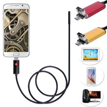 DATA hot ! 1M camcorder 2 in 1 for Android USB Endoscope Inspection 7mm mini Camera 6 LED HD IP67 Waterproof For xiaomi mar25