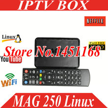 Freesat Brand New IPTV Mag250 IPTV BOX HD Media Streamer FULL HD TV linux tv box Iptv Set Top Box mag 250 iptv box