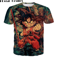 PLstar Cosmos Men Women Harajuku 3D Prints tshirts Classic Dragon Ball Z Tees Shirts Tie Dye Kid Goku t shirt Male Anime t shirt(China)