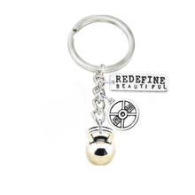 Yiwu Factory Direct Selling Antique Silver Kettle Bells Weight Plate Redefine Beautiful Hand Stamped Fitness Key Finder