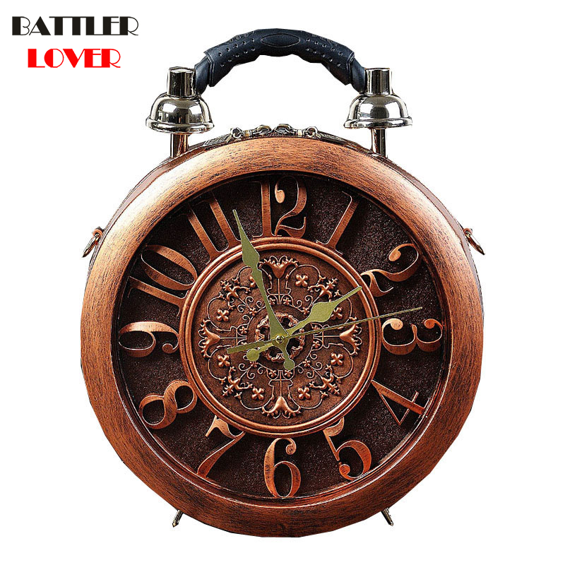 2018 New Creative Alarm Clock Pack Craft Watch Bag Womens Handbag Shoulder Bag Fashion Women