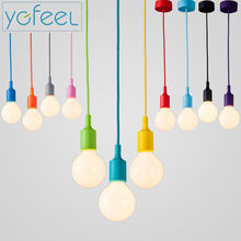 [YGFEEL] Modern Colorful Pendant Lights Dining Room Pendant Lamps Silica Gel Material Thirteen Colors E27 Holder AC90-260V(China)