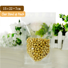 5 Pcs Wholesale 15x22cm Plastic Zip Lock Pouches / Transparent Packaging Bags / Stand Up Snack Bag