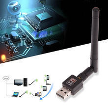 Portable Mini 150Mbps USB 2.0 Wireless WIFI Network Card Receiver for Computer Support XP VISTA WIN7 High Quality(China)