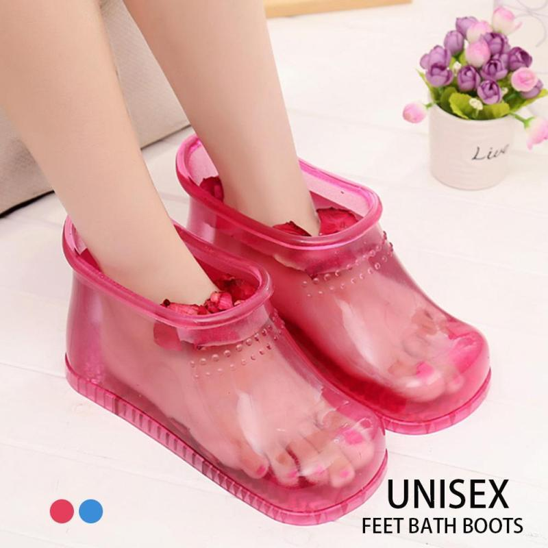 Foot Bath Massage Shoes Feet Slipper Bath Massager Household Body Relaxation Soak  Acupoint Health Care Tool L36<br>