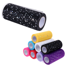 25 Yards Glitter Sequin Tulle Roll Spool Tutu Wedding Decoration Organza Laser DIY Crafts Birthday Party Supplies