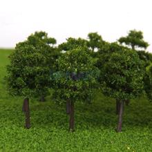 Plastic Model Trees Train Railroad Scenery 1:250 40pcs Deep Green