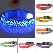 Pet Collar LED Light Up Dog Leash Chest Strap Leads Safety Adjustable LED Light Retractable Collar For Products Harness QQM307(China)