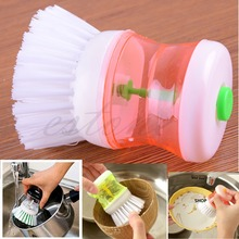 Kitchen Wash Tool Pot Pan Dish Bowl Palm Brush Scrubber Cleaning Cleaner New-F1FB