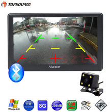 TOPSOURCE 7 Inch GPS Navigation WinCE 6.0 256MB/8GB Rearview Camera Bluetooth AVIN Vehicle Truck GPS Europe/Russia map Sat nav
