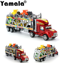 [Yamala] Emulational Car Model Toys, Classic Bus, Brinquedos Miniature Pull Back car toys for children and small Truck Toy(China)
