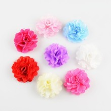 300pcs/lot 20 Color 2 Inch Petite Tulle Mesh Satin Rose Flowers DIY Craft Garment Hair Accessories Wholesale Bulk Supply TH54(China)