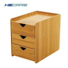 HECARE New Arrival Drawer Storage Boxes Three Layers Wood Home Drawers Organizers Desktop Drawer Divider Storage for Cosmetics