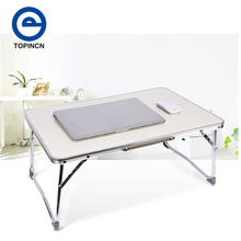 White Computer Desk Portable Laptop Folding Table Foldable Laptop Stand Desk Computer Notebook Stand On Bed Picnic Table(China)