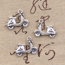 99Cents 4pcs Charms motorcycle scooter autocycle 15*19mm Antique Making pendant fit,Vintage Tibetan Silver,DIY bracelet necklace(China)