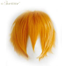 SNOILITE Synthetic Short Wig Cosplay Party Straight Hair Halloween Heat Resistant Full Wigs