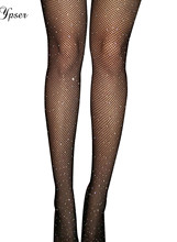 4 Style Women Sexy Crystal Rhinestone Tights Fishnet Glittering Mesh Pantyhose Charm Stockings Club Party Hosiery 2017 New(China)