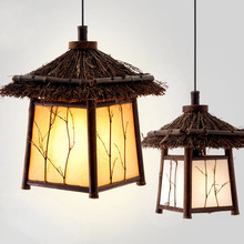 Bamboo Garden Chinese Restaurant corridor lighting retro Japanese teahouse clubhouse balcony chandelier lamp