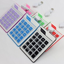 Mini Wired Numerical Silicone Keypad Number Pad 19 keys Slim Foldable Flexible Teclado Soft Portable Roll-up PC Ipad Laptop New(China)