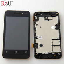 used parts Small scratch Full LCD Display Touch Screen Digitizer Assembly + frame replacement for Asus ZenFone 4 A400CXG A400CG(China)