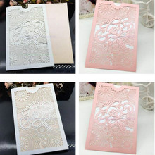 Invitation Card Paper Romantic Birthday Party10Pcs/pack Delicate Carved Heart Pattern Decoration  Wedding Supplies New 7zSH199