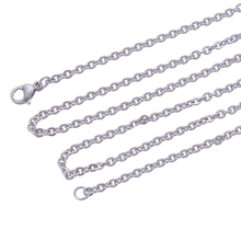 Buy 316L stainless steel necklace chains, women Silver Color stylish accessories necklace pendant jewelry for $6.40 in AliExpress store