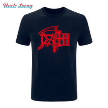 2017 NEW DEATH Logo T Shirts ROCK BAND HEAVY METAL Casual Round Neck Short Sleeve Novelty Funny T shirt Man's Clothing Tee