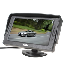 CAR HORIZON Mini 4.3'' Color TFT LCD Car Monitor Car Rear View Monitor For DVD VCD Camera, Display Screen 2 Video Input