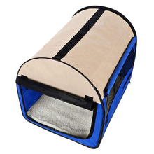 SDFC Oxford Portable Folding Pet Dog Soft Carrier Cage Home Crate Case Ship From USA Blue M