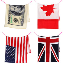 140*75cm 100% Cotton Printed Beach Towel US British Flag Beach Towel Bath Absorbent Microfiber Drying Washcloth Swimwear Shower