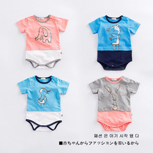 Brandwen Brand Baby Clothing 2017 Summer Cute Funny Print Cartoon Small Animal Short Sleeve Bodysuits Baby Bay Girls Clothes