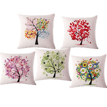 "European Fresh Tree super quality 17"" Linen Sofa Decorative Pillow With no Filling Car Chair Decoration Cushion Cojin Pad HH1100"