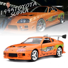 1:32 The Fast and Furious SUPRA Car Model Metal Alloy Diecasts & Toy Vehicles Model Miniature Scale Model Toy Car Toys for Gift(China)