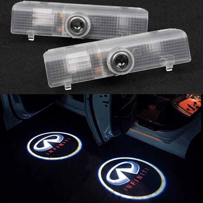 Car LED door light Infiniti JX 35 QX60 QX56 led Shadow Light LOGO door Projectors lamp original plug and play<br><br>Aliexpress