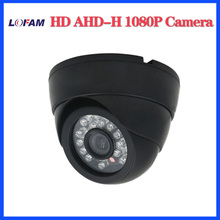 LOFAM home AHDH 2MP HD 1080P security indoor dome camera IR cut filter Day Night Vision Surveillance 2500TVL AHD Camera plastic(China)