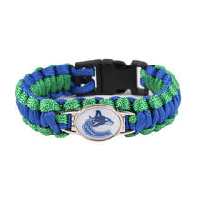 Vancouver Canucks Paracord Bracelet NHL Hockey Team Logo Charm Braided Bracelet for Women Men Outdoor Bracelets Bangle Jewelry(China)