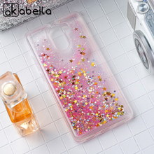 AKABEILA Glitter Liquid Soft TPU Case Cover For Huawei Y7 Prime Huawei Enjoy 7 Plus TRT-AL00A Phone Case Dynamic Sand Back Cover