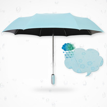 Fully-automatic Black plastic super strong UV drying water bloom in water flower umbrella sun umbrella advertising umbrella 310g(China)