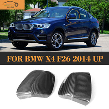 X Drive Carbon Fiber auto car side mirror Covers fender shield for BMW F26 X4 SUV sports utility vehicles 2014 2015 2016(China)