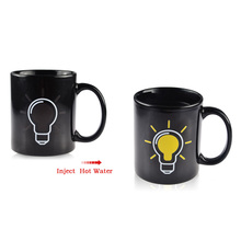 Funny Magic Color Changing Mug Heat Sensitive Light Bulb Pattern Ceramic Coffee Tea mug