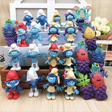 2017 The lost Village 24pcs/lot The Elves Papa figures Smurfette Clumsy Figures Elves Papa Action Toys for Children gifts