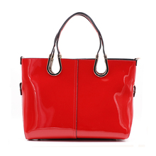 2017 Summer Top-Handle Bags Luxury Women Handbags Ladies Red Patent Leather Handbag Female Large Tote Bag Black Blue Pink B045