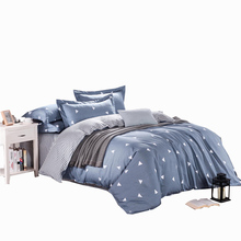 GGGGGO HOME,100% high quality cotton fabric geometry style print queen size 4pcs bedding set for home/hotel