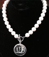 Drop shop pearl  Delta Sigma Theta DST Sorority sliver hot sell  necklace Jewelry