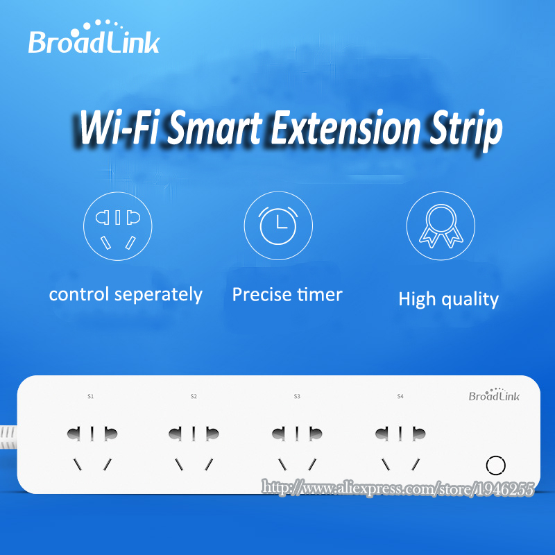 BroadLink MP1 Socket Plug WiFi Power Remote Control 4-Outlet Power Socket for Smart Home Automation System<br><br>Aliexpress