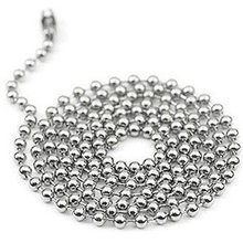 100pcs Free Shipping 2.4mm 24inch Stainless Steel Ball Beads Necklace Chain Stainless Steel Ball Chain KEYCHAIN ball chain