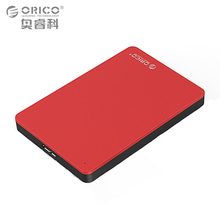 ORICO Aluminum Hard Drive Enclosure USB3.0 5Gbps 2.5 inch External Mobile HDD Case Support 7mm & 9.5mm HDD SSD - Red