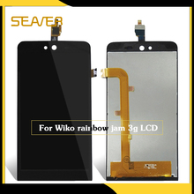 5 inch Original Quality For Wiko Rainbow Jam 3G LCD Display + touch Screen with digitizer For Wiko Rainbow Jam 3G LCD Assembly